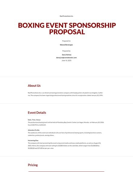 Free Simple Sponsorship Proposal Template