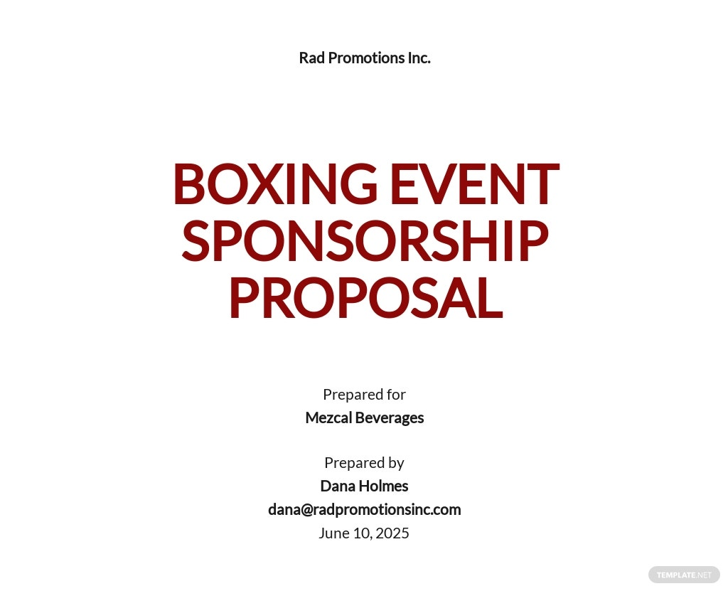 Simple Sponsorship Proposal Template