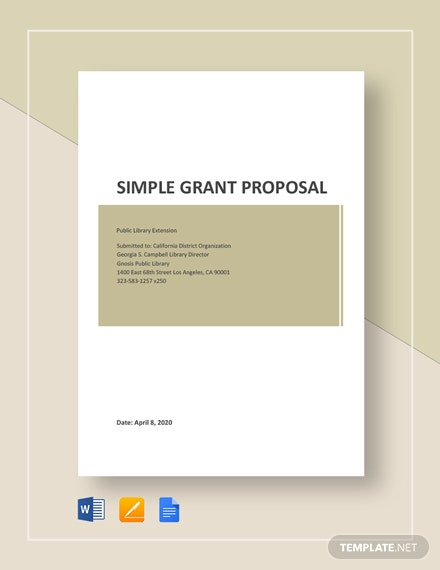 Free Simple Grant Proposal Template