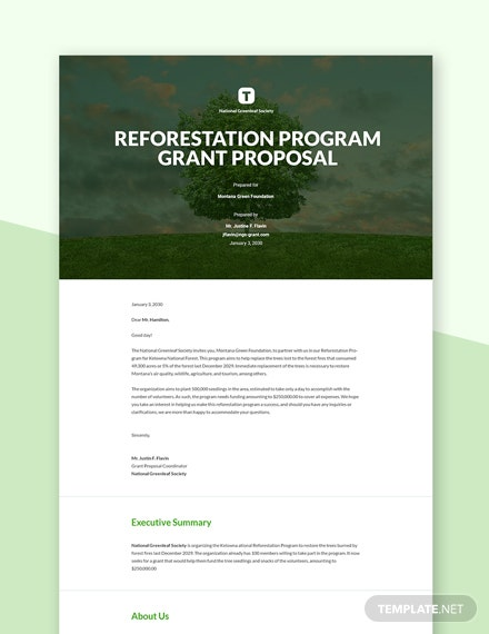 Generic Grant Proposal Template