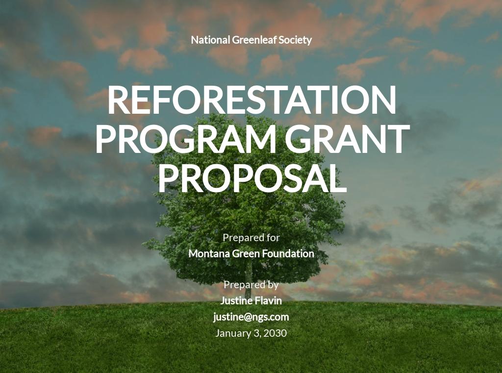 Generic Grant Proposal Template