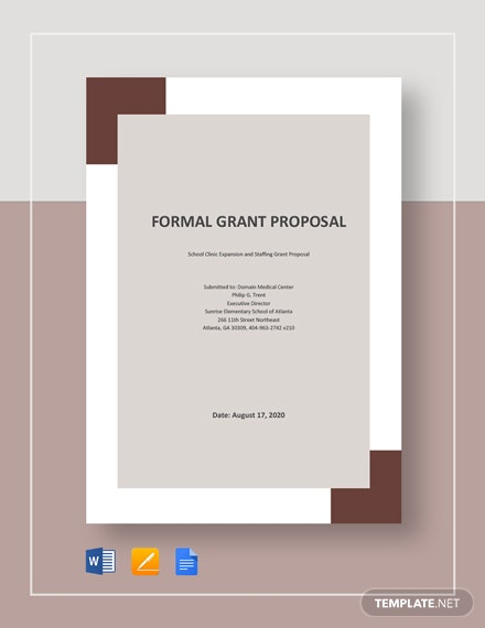 Free Formal Grant Proposal Template