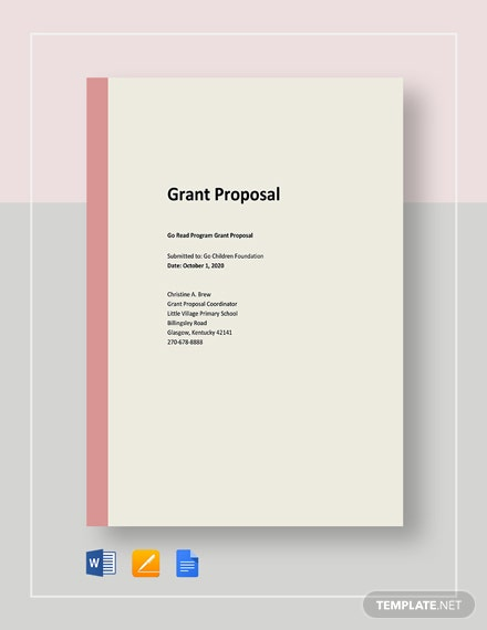 Free Basic Grant Proposal Template