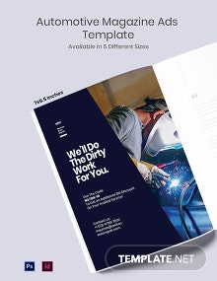 Automotive Magazine Ads Template