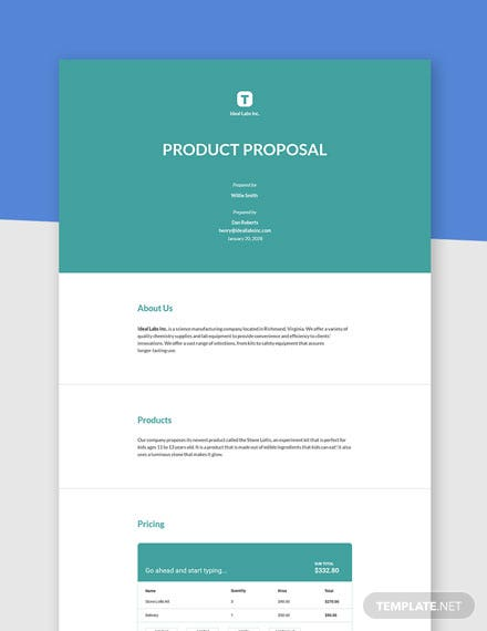 Simple Product Proposal Template