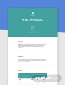Free Simple Product Proposal Template