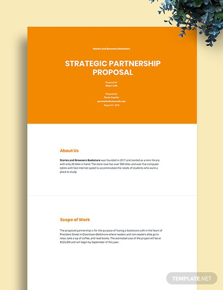 Strategic Partnership Proposal Template