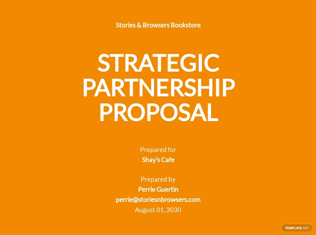 Strategic Partnership Proposal Template
