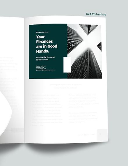 Banking  Finance Magazine Ads Example