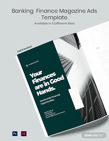 Free Banking Finance Magazine Ads Template