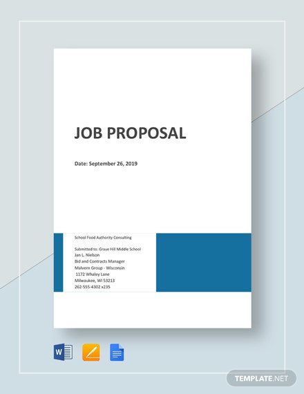 Free Basic Job Proposal Template