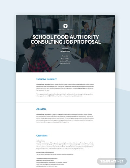Editable Free Basic Job Proposal Template