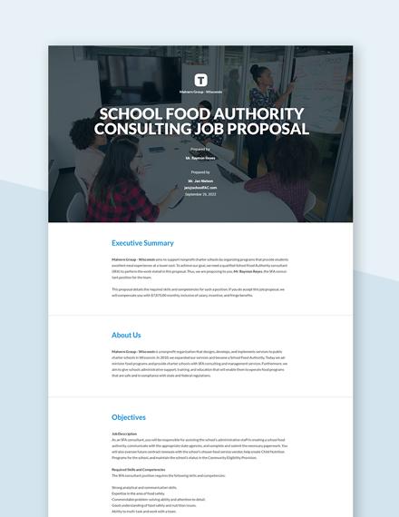 Free Basic Job Proposal Template