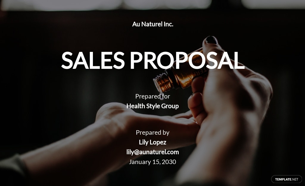 Sample Sales Proposal Template