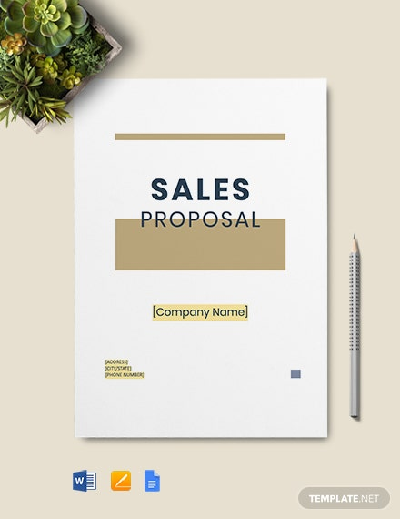 Free Simple Sales Proposal Template