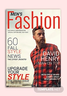 Men's Fashion Magazine Cover Template