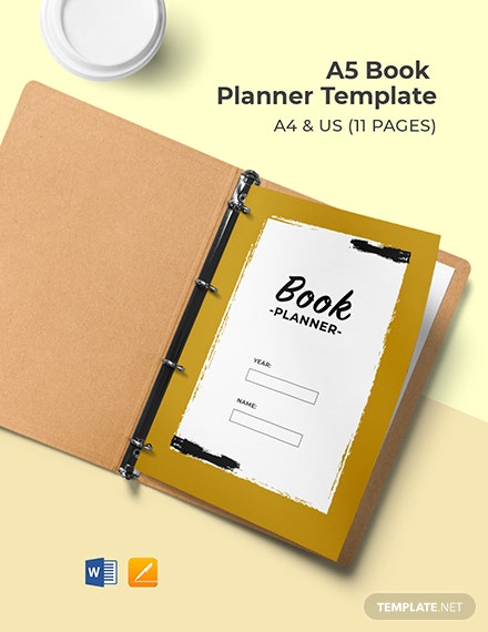 A5 Book Planner Template