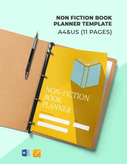 Non Fiction Book Planner Template