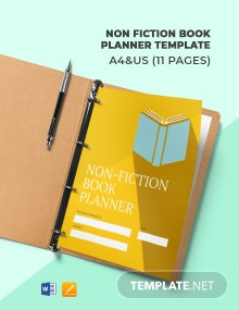 Non Fiction Book Planner Template