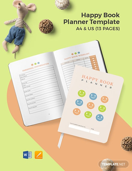 Happy Book Planner Template