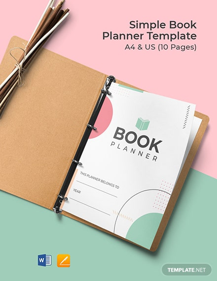 Free Simple Book Planner Template