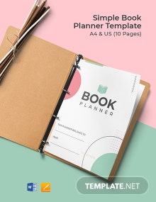 Simple Book Planner Template