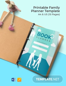 Free Printable Family Planner Template
