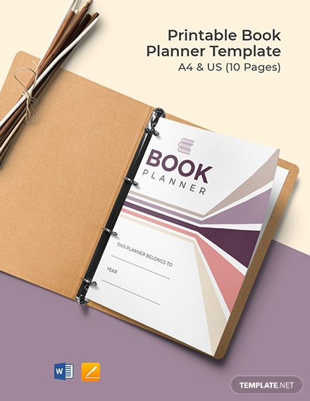 Free Printable Book Planner Template