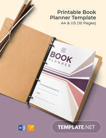 Printable Book Planner Template