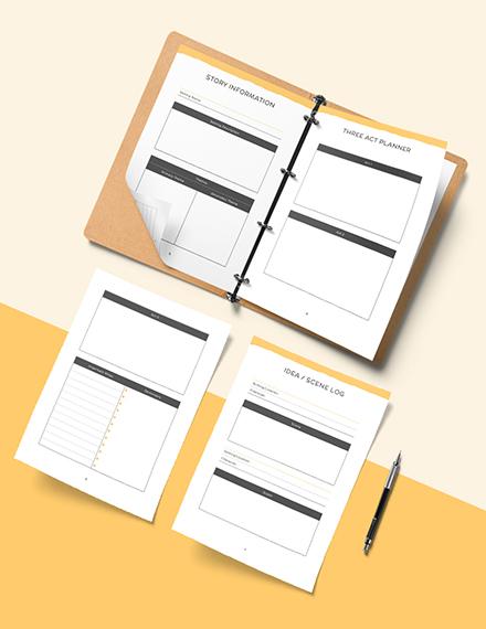 Sample Writers Story Planner