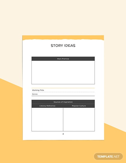 Writers Story Planner Format