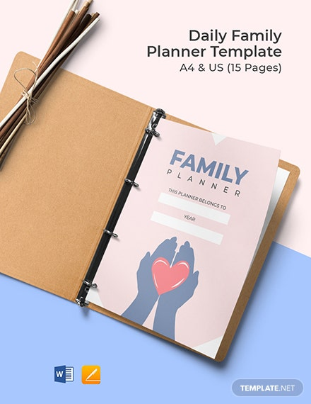 Daily Family Planner Template