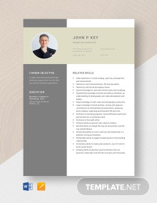 Branding Manager Resume Template