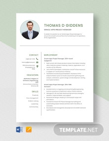 Oracle Apps Project Manager Resume Template