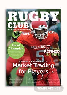 Rugby Magazine Cover Template