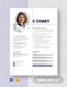 Pharmaceutical Project Manager Resume Template