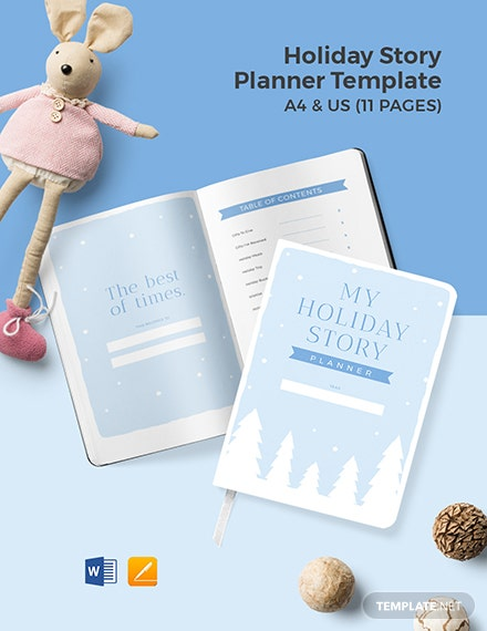 Holiday Story Planner Template
