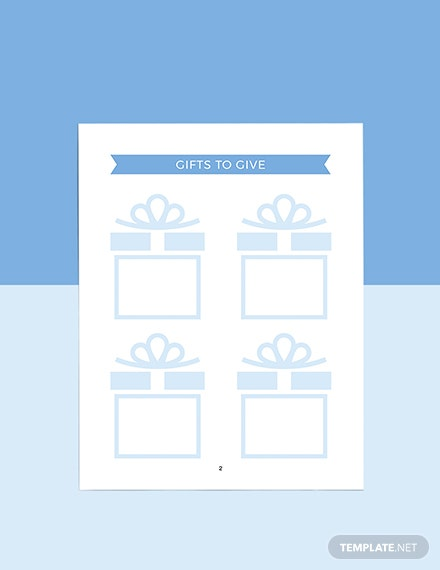 Sample Holiday Story Planner