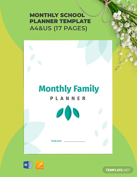 Monthly Family Planner Template