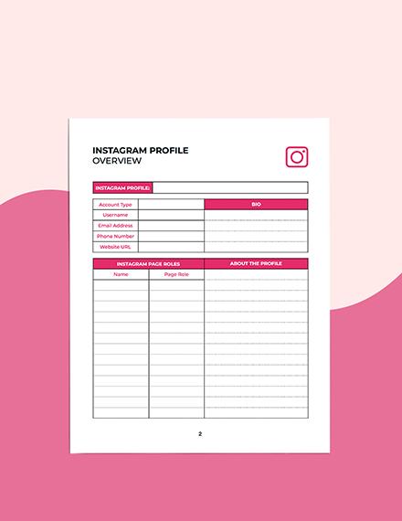 Instagram Story Planner Format