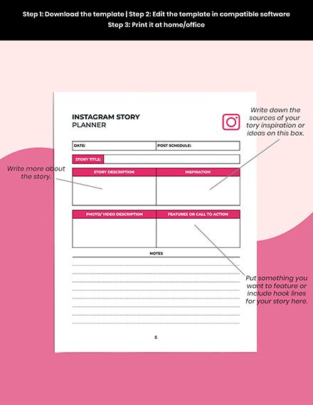 Instagram Story Planner Printable