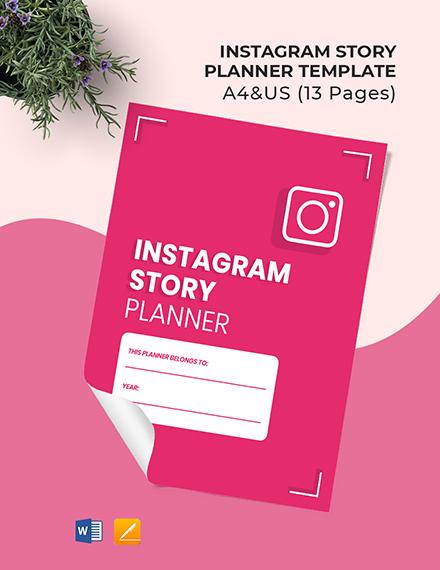 Instagram Story Planner Template