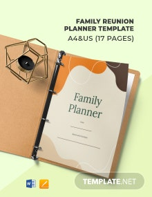 Family Reunion Planner Template