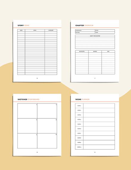 Digital Story Planner Editable