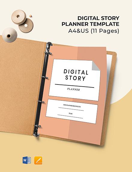 Digital Story Planner Template