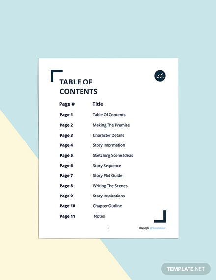 Printable Story Planner Template Download
