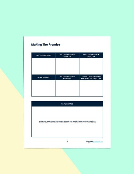 Printable Story Planner Template Editable