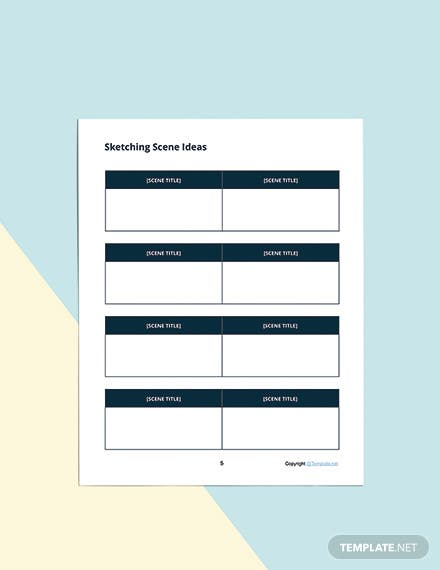 Printable Story Planner Template Format