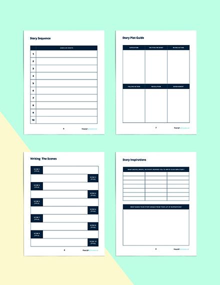 Printable Story Planner Template Printable