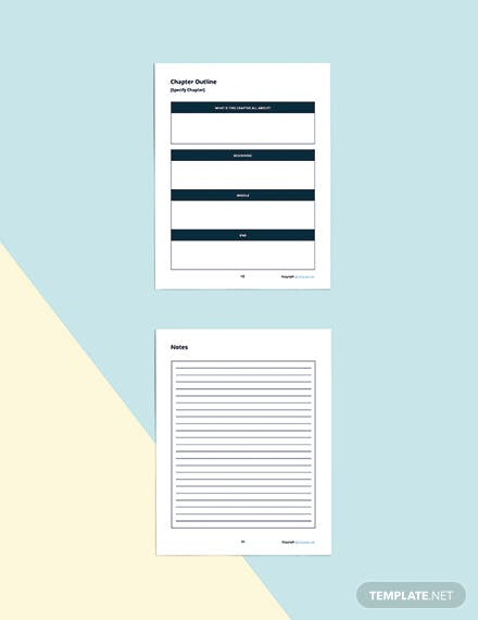 Printable Story Planner Template Readable